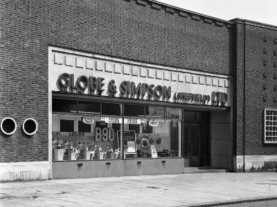 Globe and Simpson Shop Window, Nottingham, Nottinghamshire, 1961-Michael Walters-Photographic Print