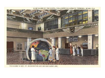 Globe at Pan American Terminal--Art Print