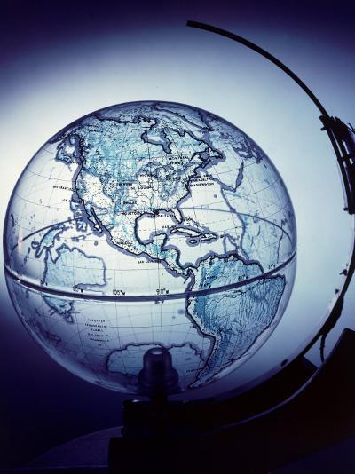 Globe Built by Robert H. Farquhar to Trace Orbit of Sputnik I-Dmitri Kessel-Photographic Print