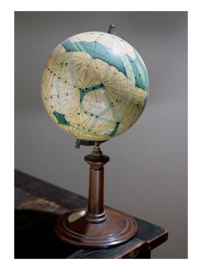 Globe of the Planet Mars, Made 1903-09-Percival Lowell-Giclee Print
