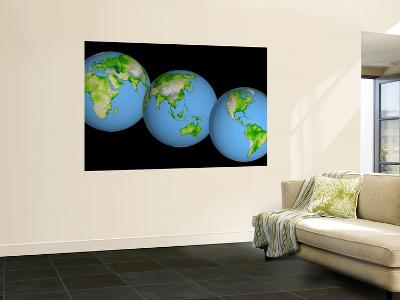 Globes of the World--Wall Mural