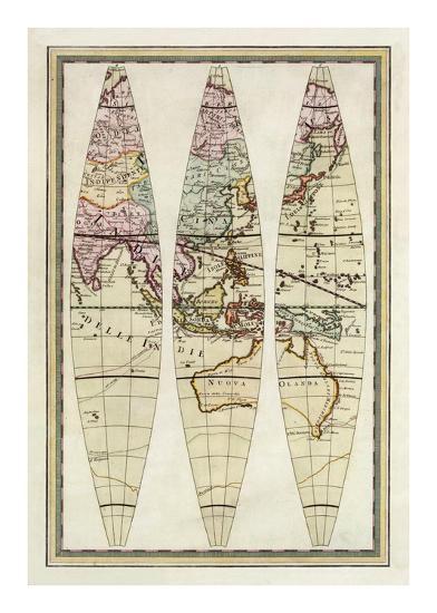 Globo Terrestre III, c.1792-Giovanni Maria Cassini-Art Print