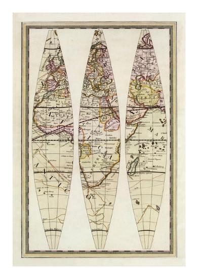 Globo Terrestre IV, c.1792-Giovanni Maria Cassini-Art Print