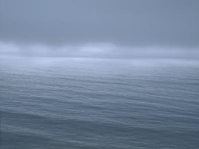 Gloomy Low Clouds over the Pacific Ocean Along the Northern California Coast--Photographic Print