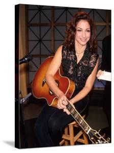 Gloria Estefan Holding Guitar
