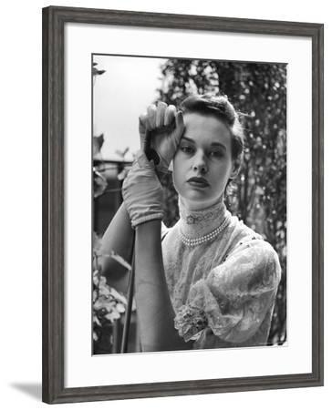 Gloria Vanderbilt Stokowski in Costume for Molnar's Play The Swan-Gordon Parks-Framed Premium Photographic Print