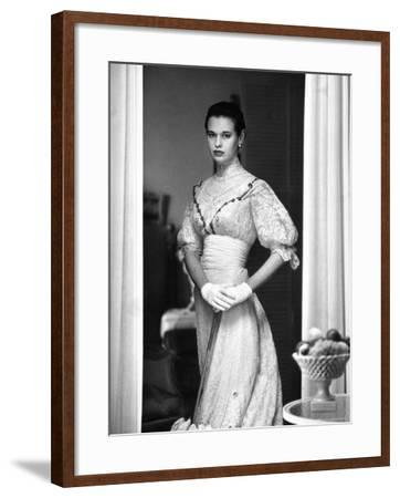 Gloria Vanderbilt Stokowski in Costume for Molnar's Play, The Swan-Gordon Parks-Framed Premium Photographic Print