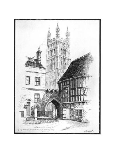 Gloucester Cathedral, 1901-Edward J Burrows-Giclee Print