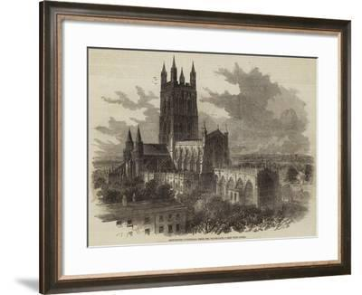 Gloucester Cathedral, from the South-East--Framed Giclee Print