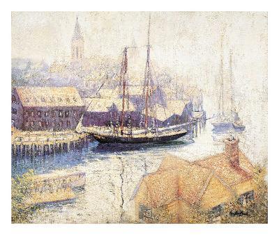 Gloucester Harbor, 1913-Hayley Lever-Art Print