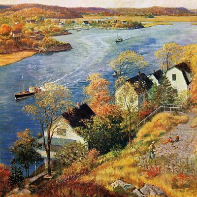 """""""Gloucester Harbor"""", November 14, 1959-John Clymer-Giclee Print"""