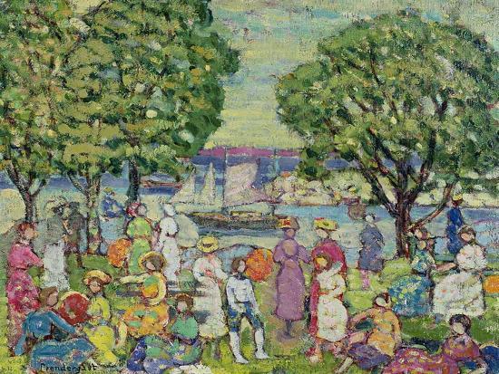 Gloucester Harbour-Maurice Brazil Prendergast-Giclee Print