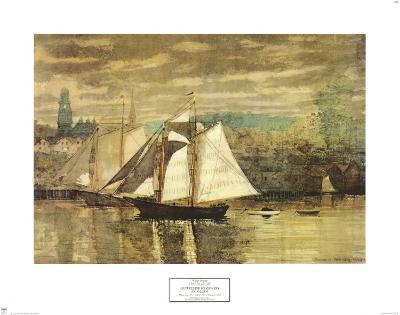 Gloucester Schooners and Sloop-Winslow Homer-Art Print