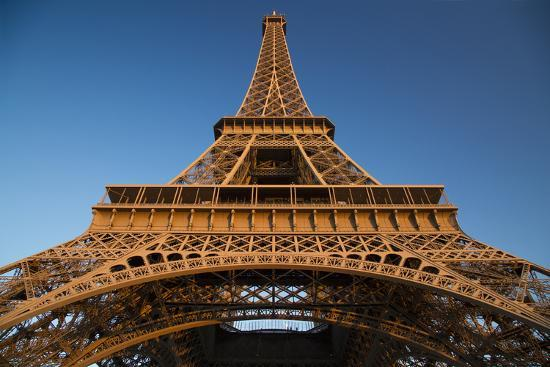 Glow of Sunset on the Eiffel Tower, Paris, France-Brian Jannsen-Photographic Print