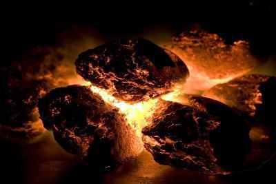 Glowing Hot Charcoal-Rebecca Hale-Photographic Print