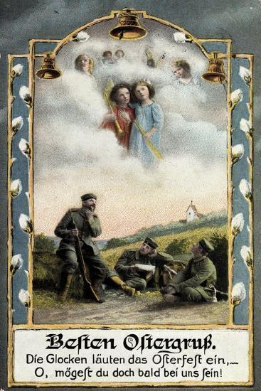 Glückwunsch Ostern, Soldaten Beim Träumen, Engel--Giclee Print