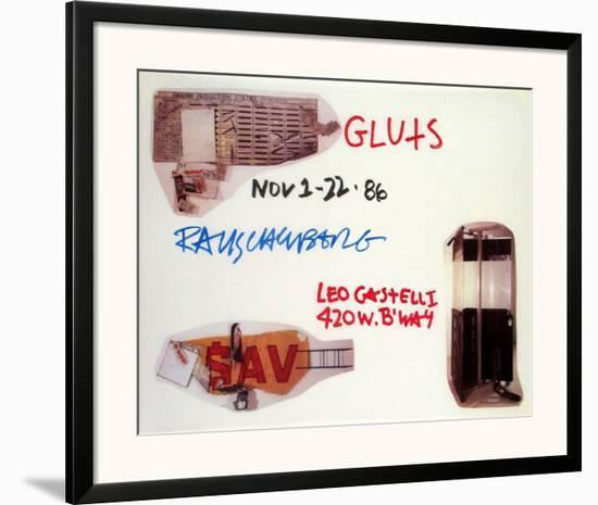 Gluts-Robert Rauschenberg-Framed Art Print