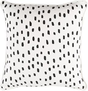 Glyph 18 x 18 Pillow Cover - Ivory/Black
