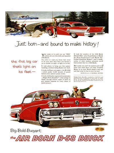 GM Buick-Bound to Make History--Art Print