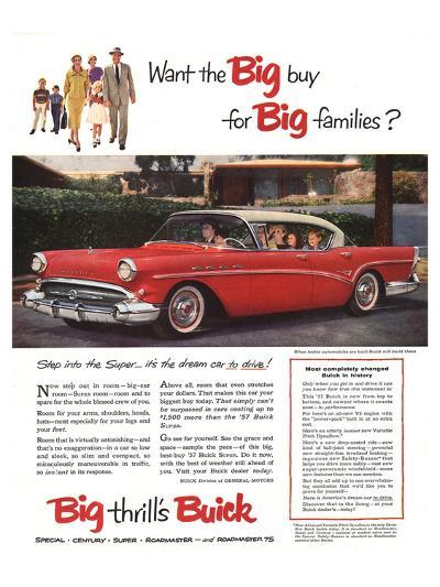 GM Buick-Buy for Big Families--Art Print