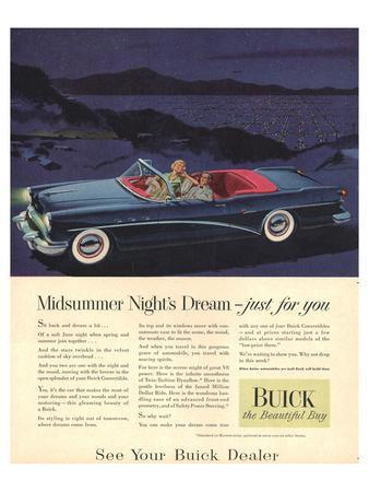 GM Buick - Just for You--Art Print