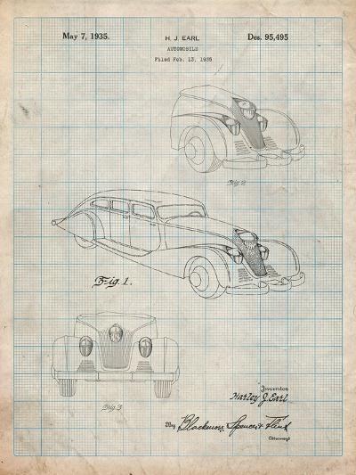 GM Cadillac Concept Design Patent-Cole Borders-Art Print