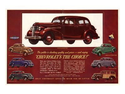 GM Chevrolet's the Choice--Art Print