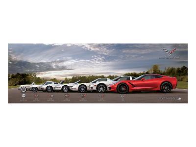 Gm Corvette Evolution--Art Print