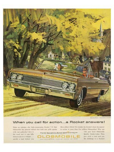 GM Oldsmobile-A Rocket Answers--Art Print