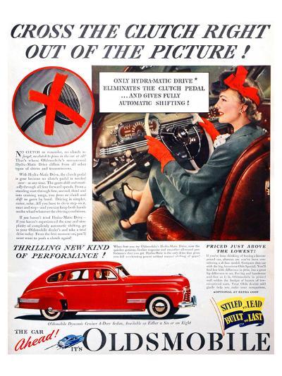GM Oldsmobile-Cross the Clutch--Art Print