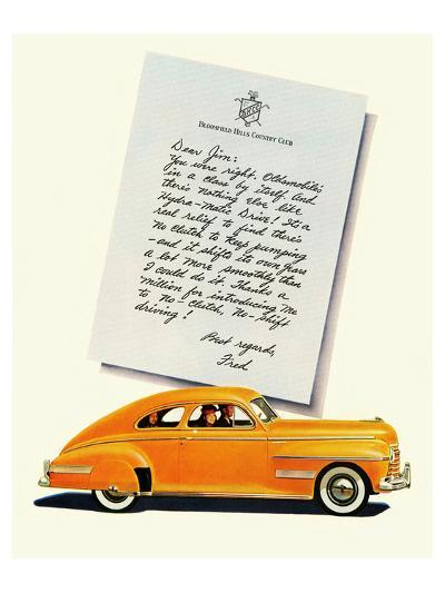 GM Oldsmobile-No Shift Driving--Art Print