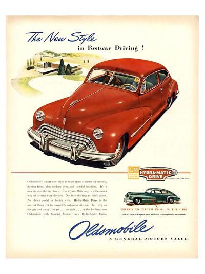 GM Oldsmobile-Postwar Driving!--Art Print