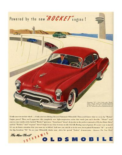 GM Oldsmobile - Rocket Engine--Art Print