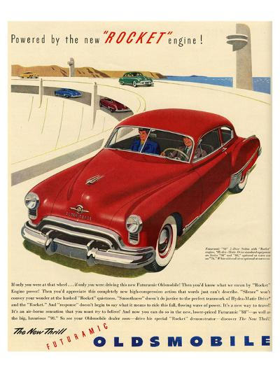 GM Oldsmobile - Rocket Engine--Premium Giclee Print