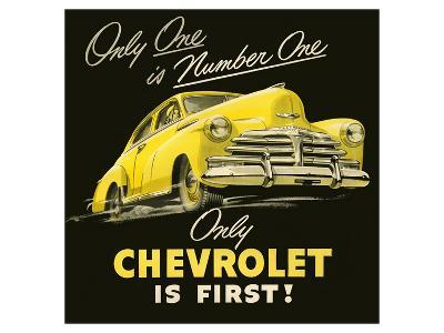 GM Only Chevrolet is First--Art Print