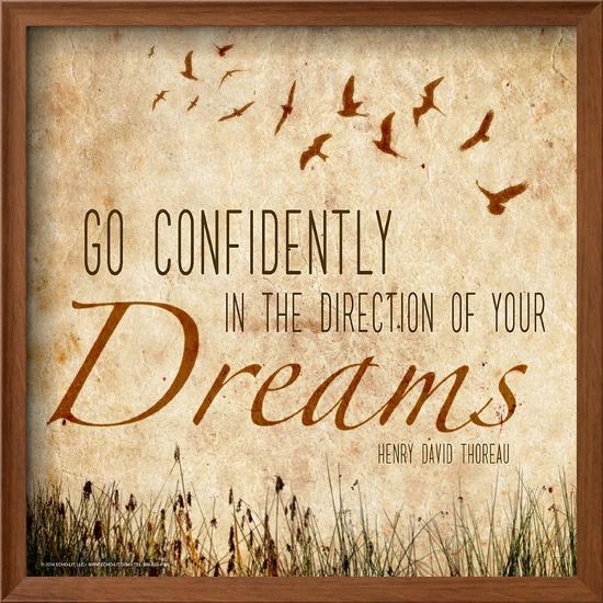 Go Confidently Henry David Thoreau Classic Quote Framed Art Print