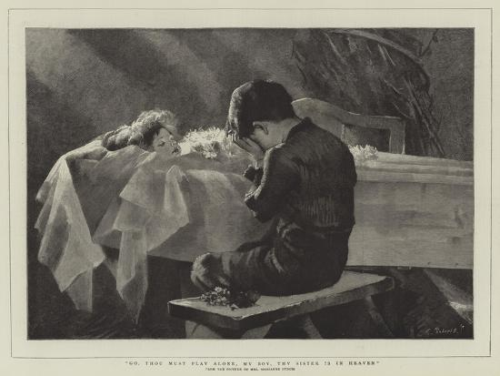 Go, Thou Must Play Alone, My Boy, Thy Sister Is in Heaven-Marianne Stokes-Giclee Print