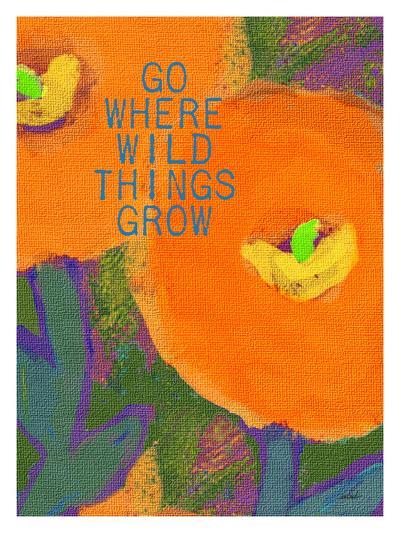 Go Where Wild Things Grow-Lisa Weedn-Giclee Print