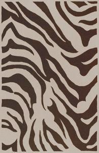Goa Zebra Area Rug - Beige/Chocolate 5' x 8'