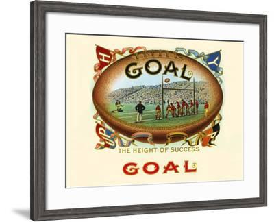 Goal: The Height Of Success- Haywood, Strasser & Voigt Litho-Framed Art Print