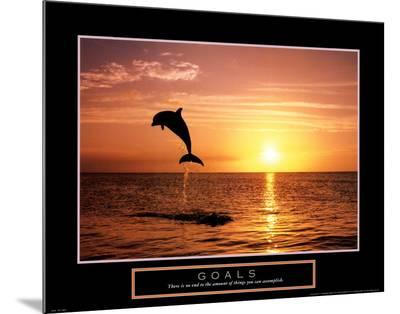 Goals: Dolphins-Craig Tuttle-Mounted Print