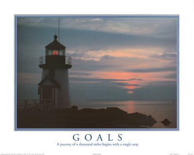Goals Motivational Lighthouse Art Print POSTER quality