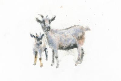 Goat and Kid-Emily Adams-Art Print