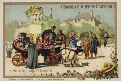 Goat Cart--Giclee Print