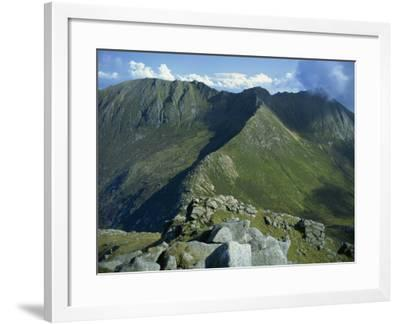 Goat Fell Range, the Big Mountains of Arran, Isle of Arran, Strathclyde, Scotland, UK-Maxwell Duncan-Framed Photographic Print