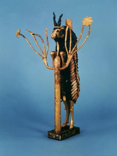 Goat in Thicket, Statuette of Gold, Copper, Lapis Lazuli, Red Limestone and Shell, Sumerian Ur--Photographic Print