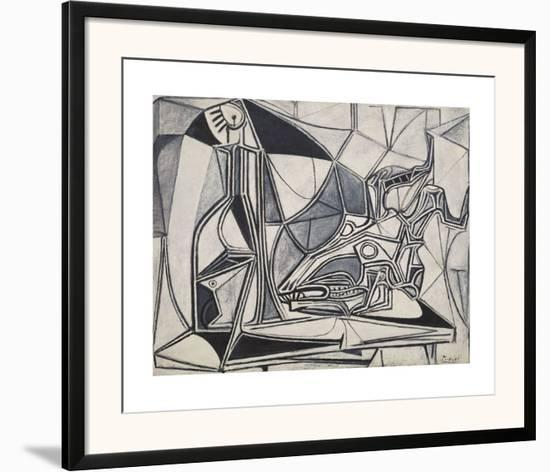 Goat's Skull, Bottle and Candle, 1952-Pablo Picasso-Framed Art Print