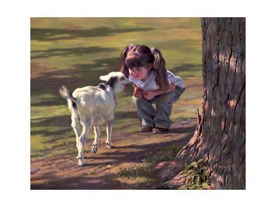 Goat Whisperer-Bob Byerley-Giclee Print