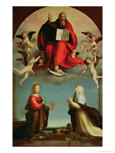 God Appearing to St. Mary Magdalen and St. Catherine of Siena, circa 1508-Fra Bartolommeo-Giclee Print