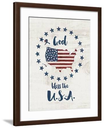 God Bless USA-Jo Moulton-Framed Art Print
